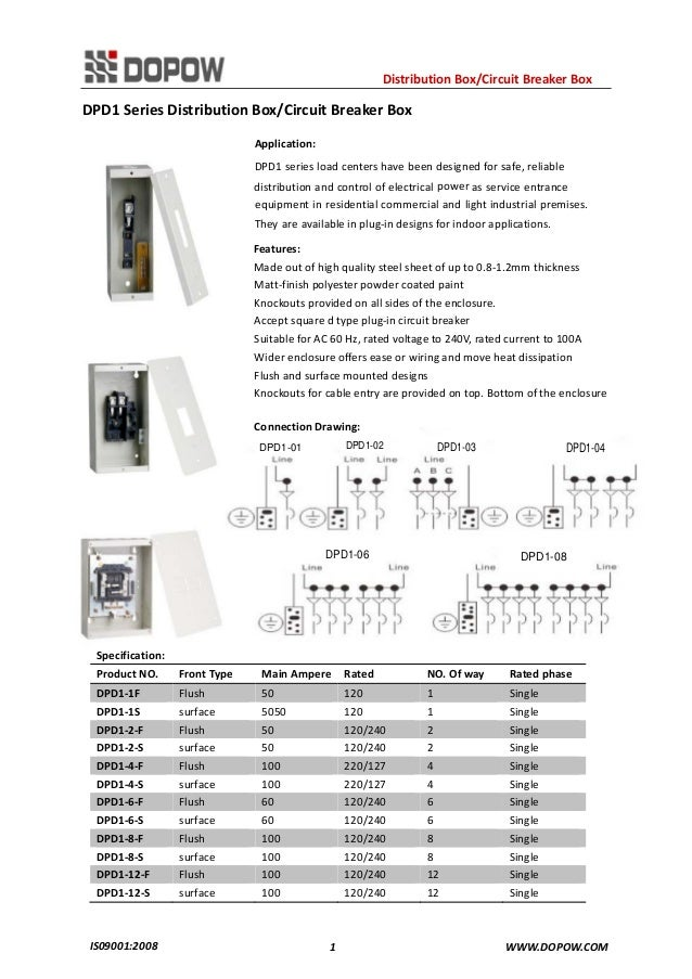 DP Series Distribution Box/Circuit Breaker Box