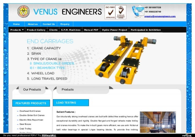 +91 9810007538 +91 9560238749 enquiry@venusengineers.com Home About us Contact Us Enquiry Our Products FEATURED PRODUCTS O...