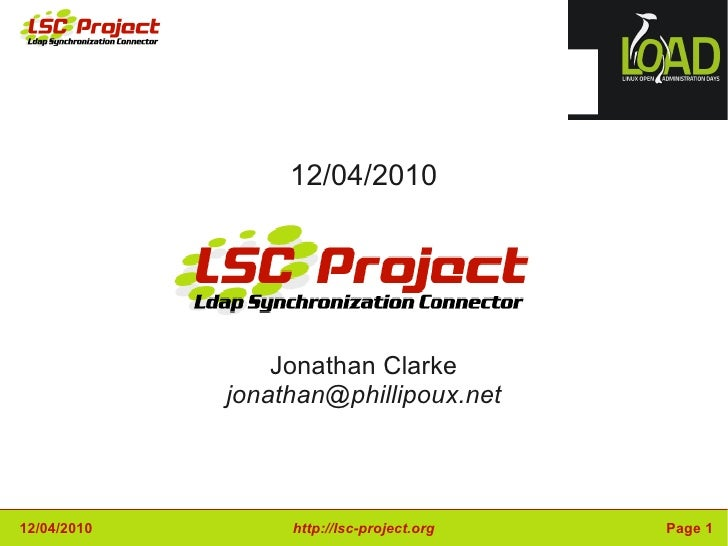 12/04/2010 Jonathan Clarke [email_address]