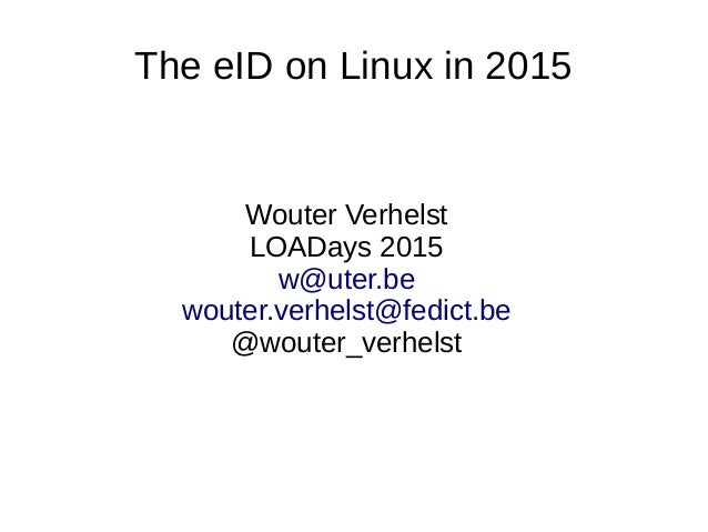 The eID on Linux in 2015