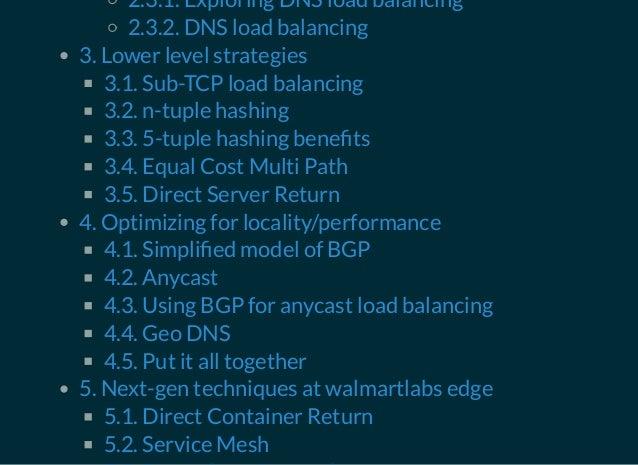 Load balancing basics