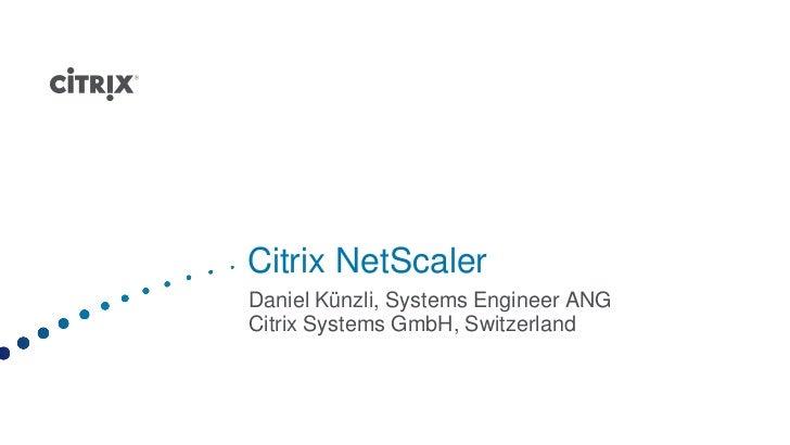 Load Balancing und Beschleunigung mit Citrix Net Scaler