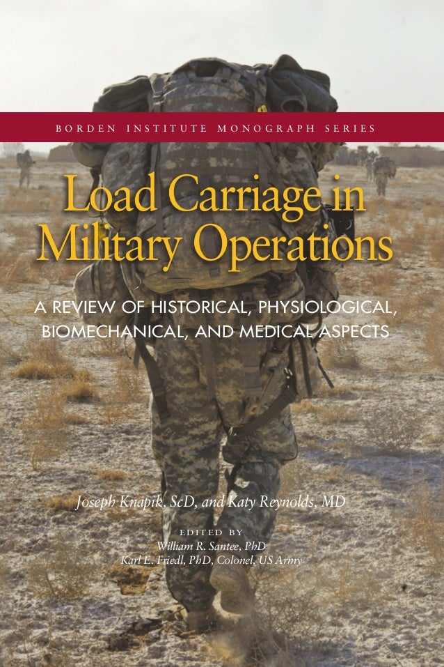 b o r d e n i n s t i t u t e m o n o g r a p h s e r i e s Load Carriage in Military Operations Joseph Knapik, ScD, and K...