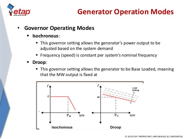 isochronous vs droop control for generators pdf