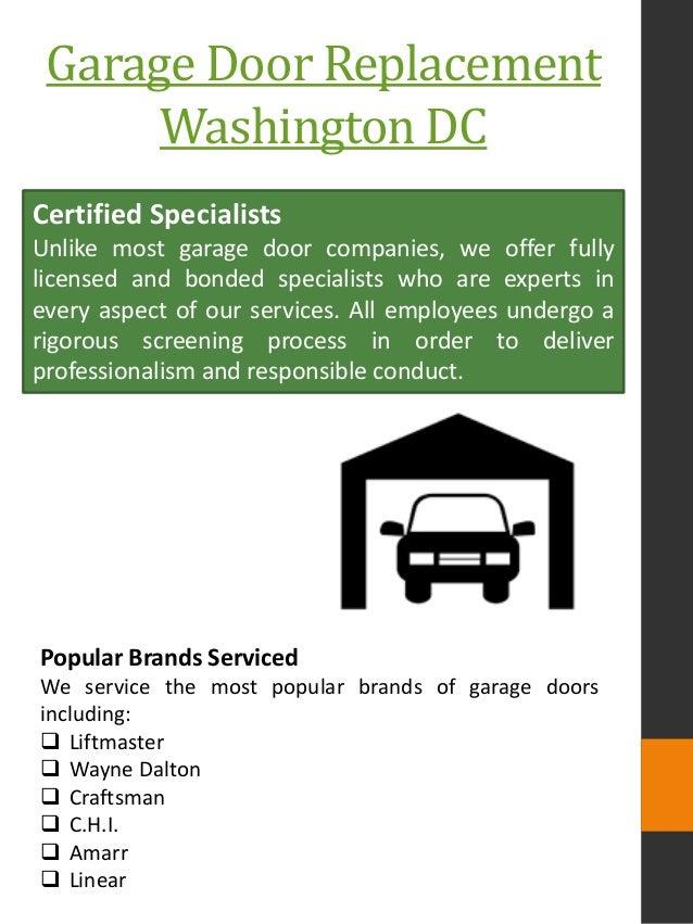 Garage Door Replacement Washington DC ...
