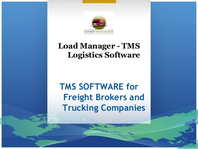 Load Manager - TMS Logistics Software