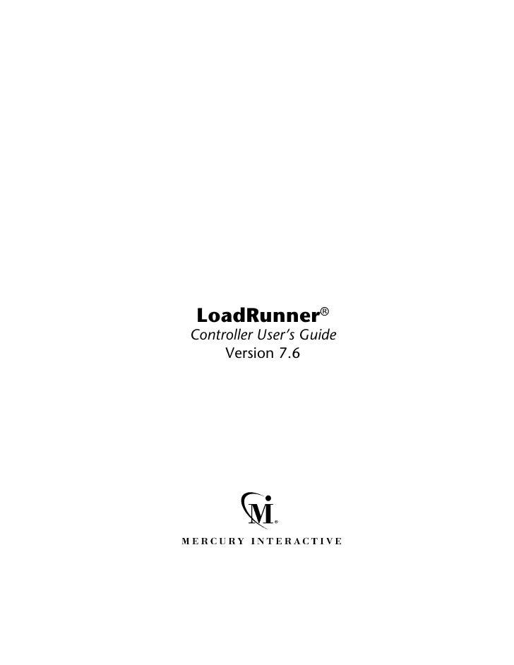 LoadRunner®Controller User's Guide     Version 7.6