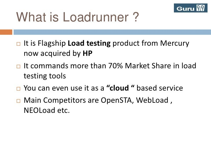 What is Loadrunner ?