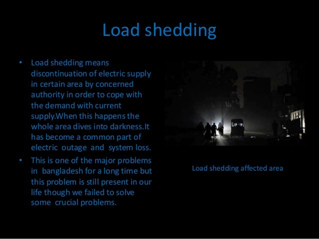 Load shedding - College paper Example - August 2019 - 2394 words