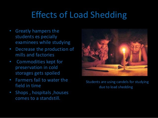 effects of load shedding on student