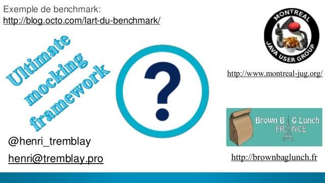 25 @henri_tremblay henri@tremblay.pro http://www.montreal-jug.org/ Exemple de benchmark: http://blog.octo.com/lart-du-benc...