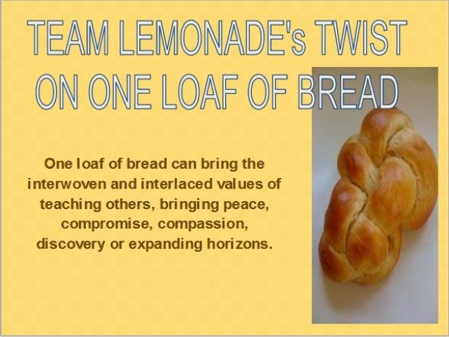 Loaf of bread from team lemonade