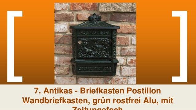 Briefkasten Postillion Wandbriefkasten grün rostfrei Alu mit Zeitungsfach