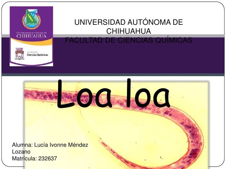UNIVERSIDAD AUTÓNOMA DE                           CHIHUAHUA                  FACULTAD DE CIENCIAS QUÍMICAS               L...