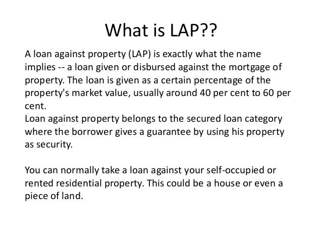 Technical Valuation on Loan against property - Loankuber