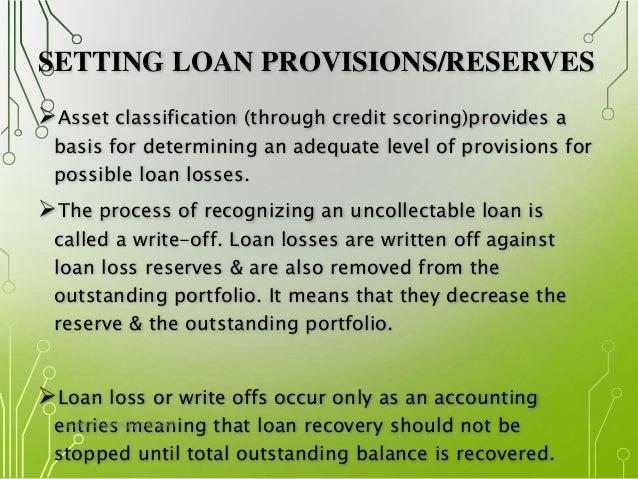 Loan loss provisioning