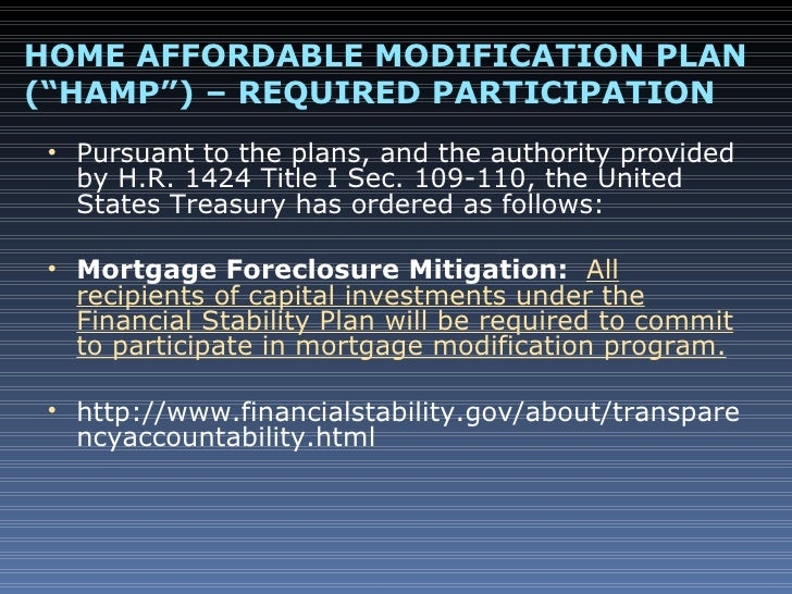 Loan modification and bankruptcy basics powerpoint Home affordable modification program