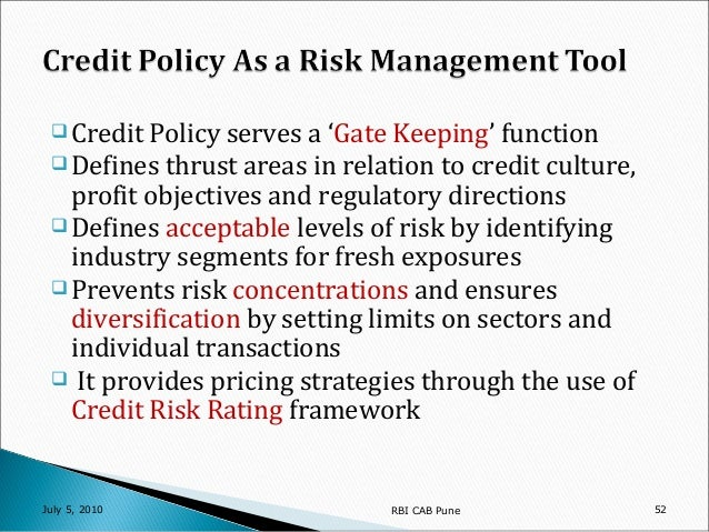 Credit risk management and profitability of