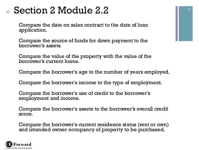 12 - Contract Loan Processing