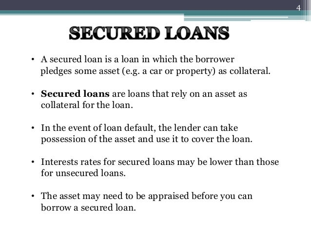 Loans and types