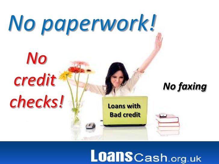 No Fax Cash Advance For Bad Credit