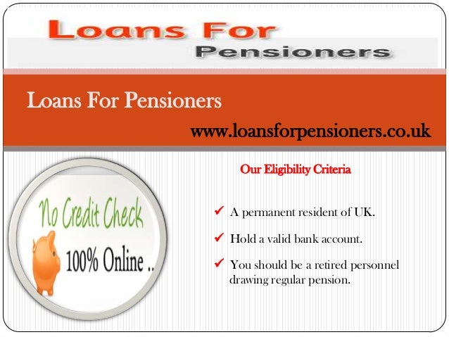 Online Loans Pensioners