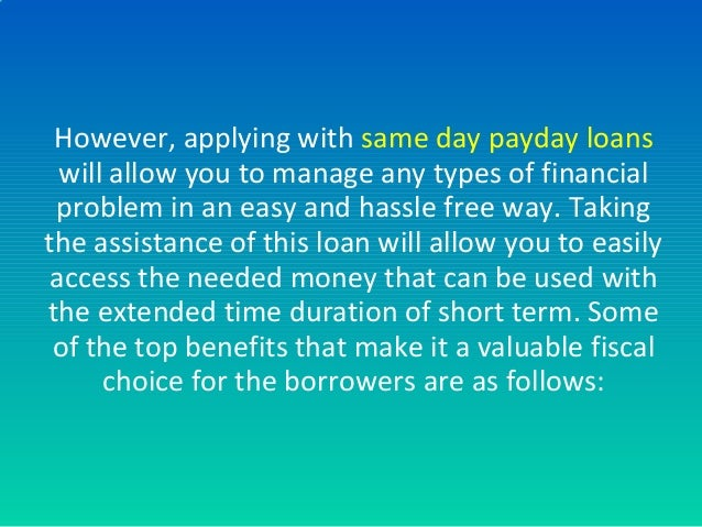 salaryday personal loans free of credit assessment