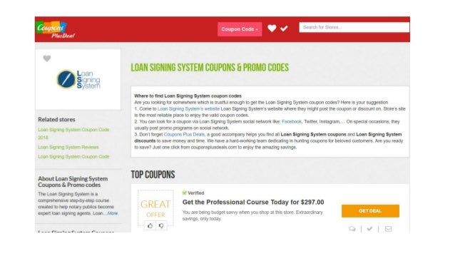 Loan Signing System Coupons 40 Off