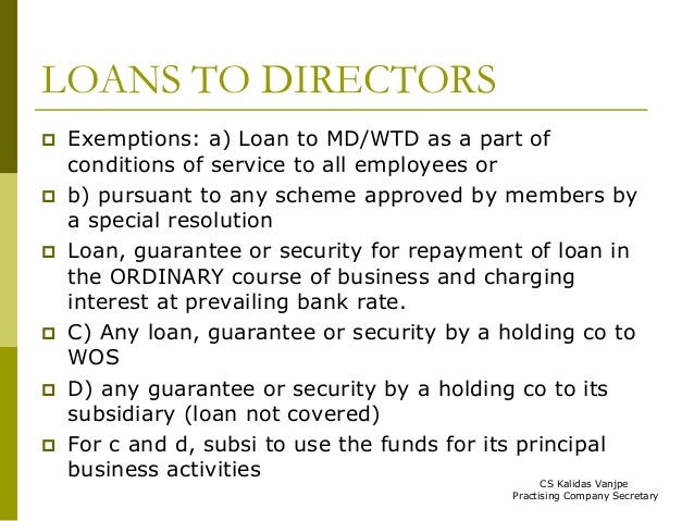 Interest On Loans From Directors To Company