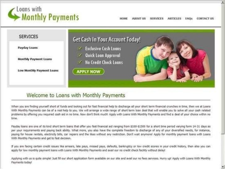 loans with low monthly payments