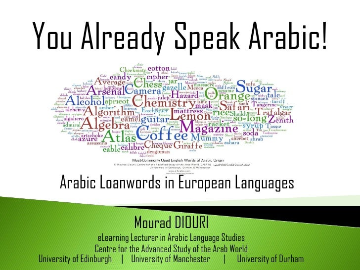 You Already Speak Arabic! : Arabic Loanwords in European Languages