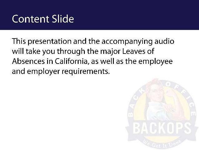 Loa training Slide 2