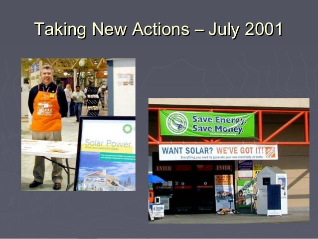 Taking New Actions – July 2001