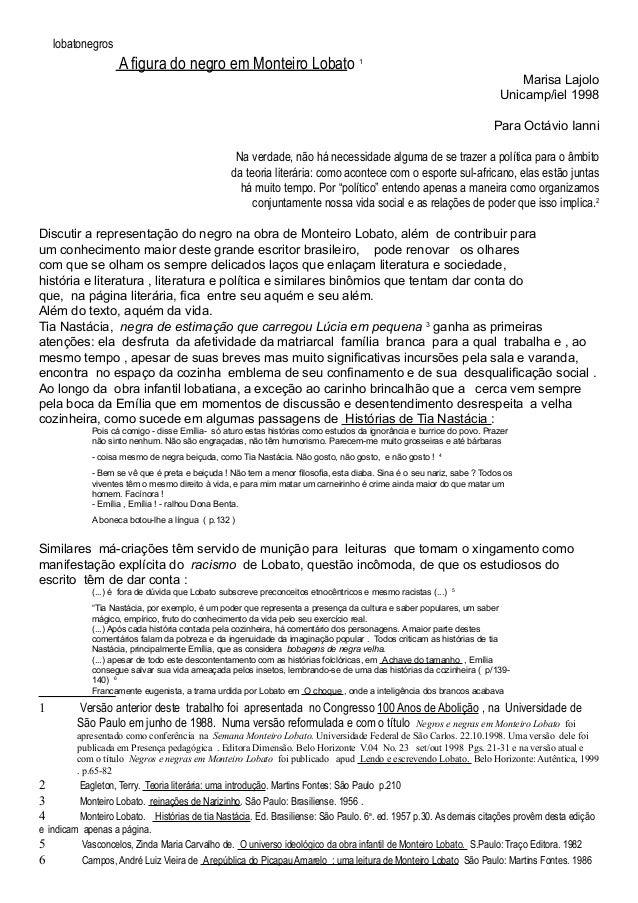 lobatonegros                    A figura do negro em Monteiro Lobato                                                      ...