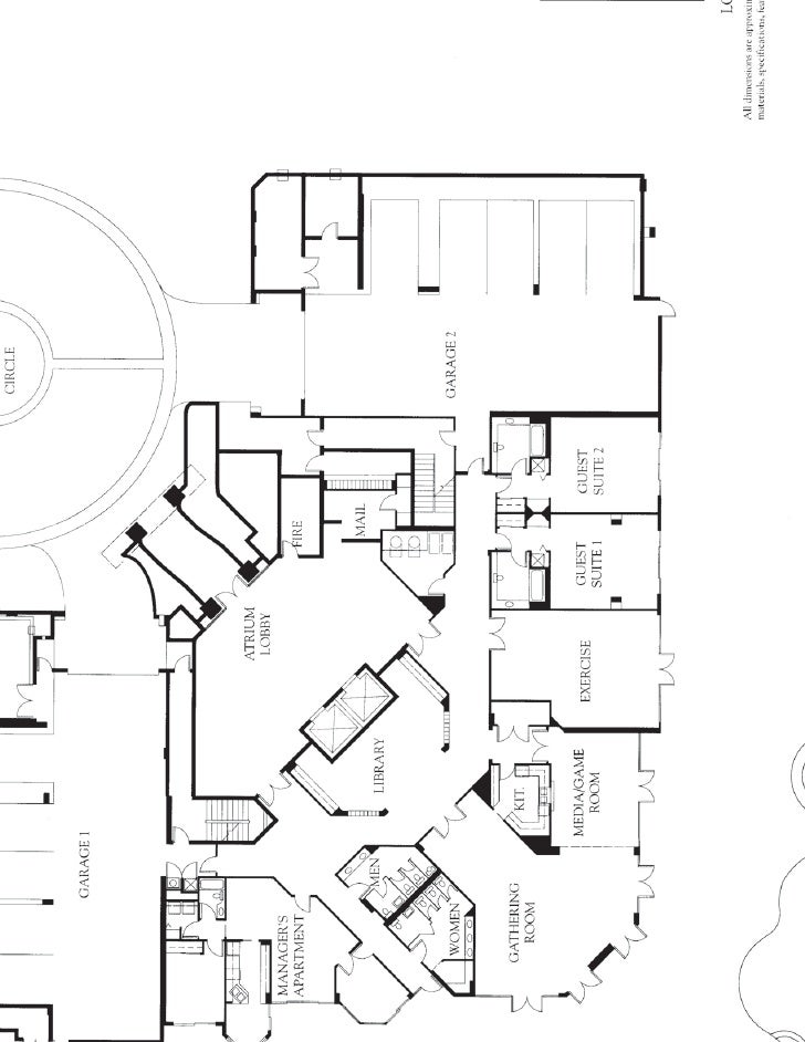 Lobby Floor Plan In Bay Shore Place At Park Shore Beach Site Plan Nap