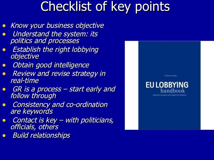 introduction to EU LObbying