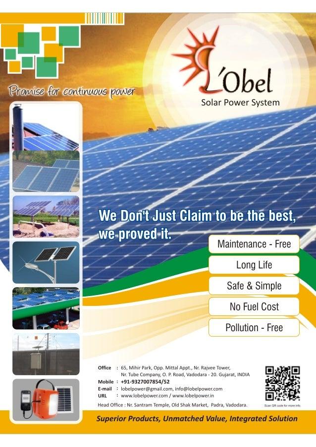 Lobel Solar Brochure