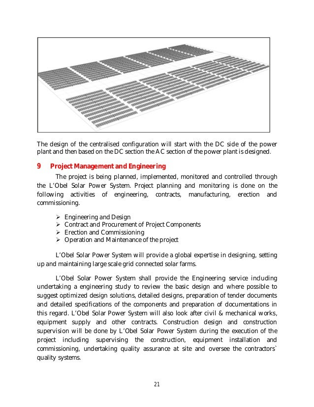 Lobel Proposal For 1 Mw Crystalline Pv Solar Power Plant