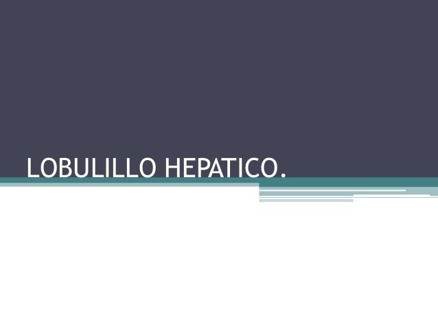 LOBULILLO HEPATICO.