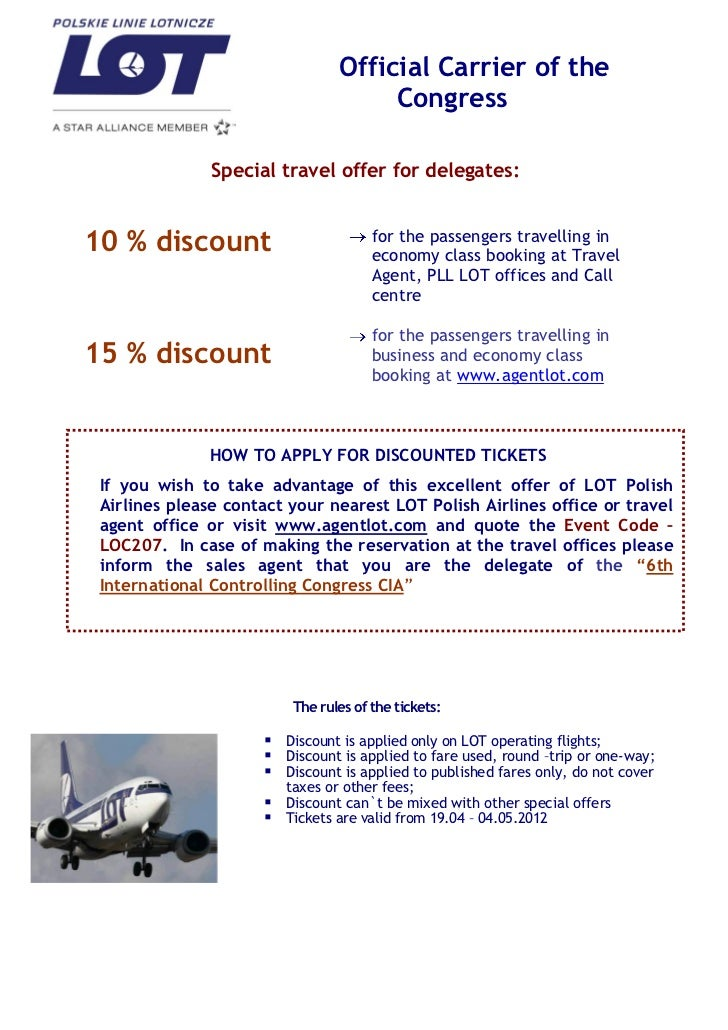 Official Carrier of the                                     Congress               Special travel offer for delegates:10 %...