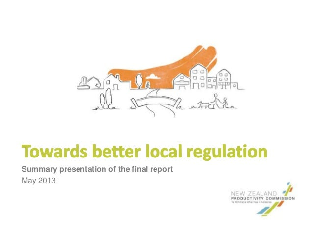 Summary presentation of the final reportMay 2013