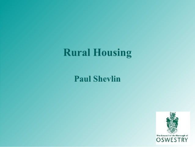Local Perspectives - Rural Housing