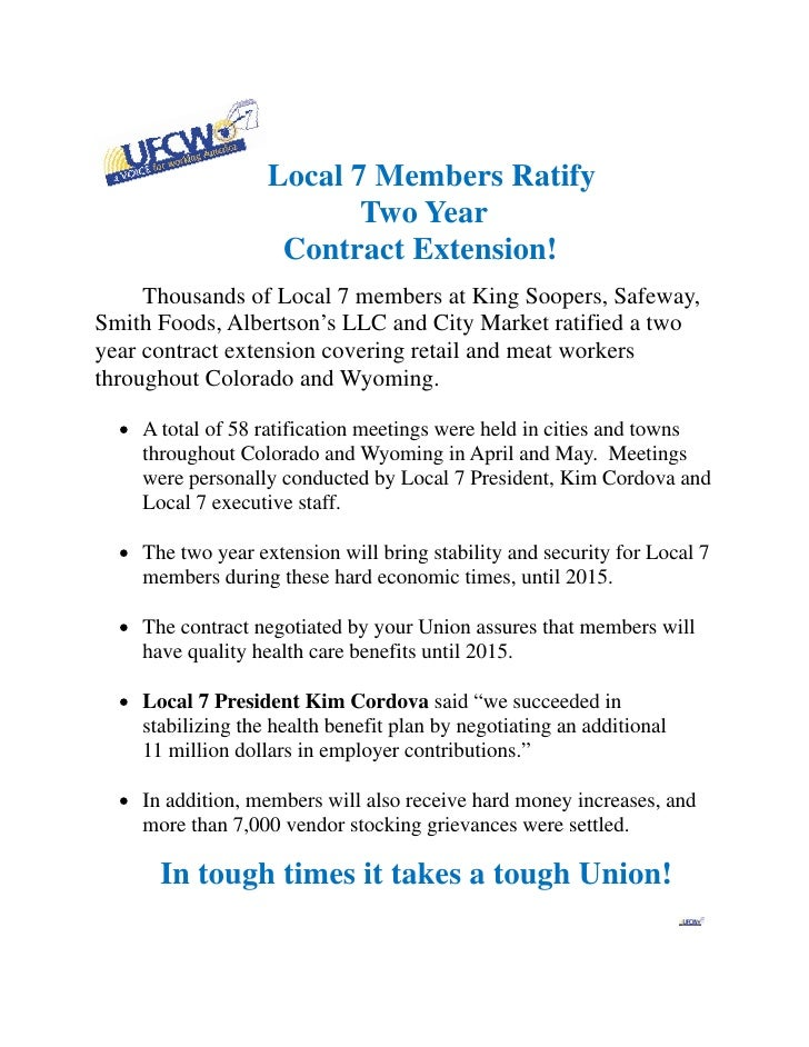 Local 7 Members Ratify                              Two Year                        Contract Extension!     Thousands of L...