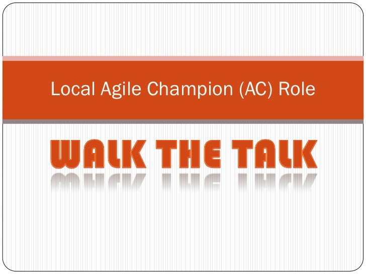 Local Agile Champion (AC) Role
