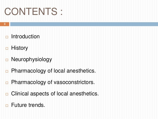 Local anesthesia Slide 3