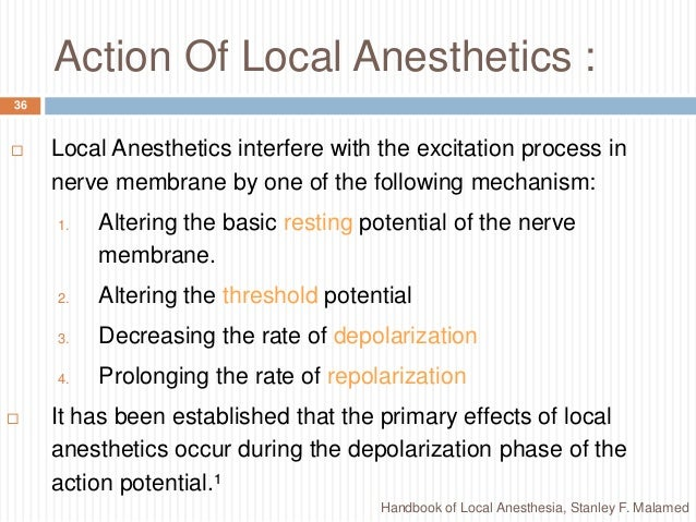 local anesthesia