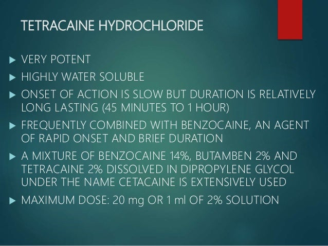 LIDOCAINE HYDROCHLORIDE  2% OR 4% CONCENTRATION  MAXIMUM RECOMMENDED DOSE IS 200mg  WHEN APPLIED BY MEANS OF COTTON APP...