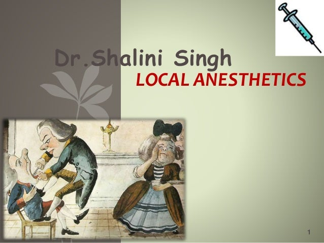 Dr.Shalini Singh 1 LOCAL ANESTHETICS
