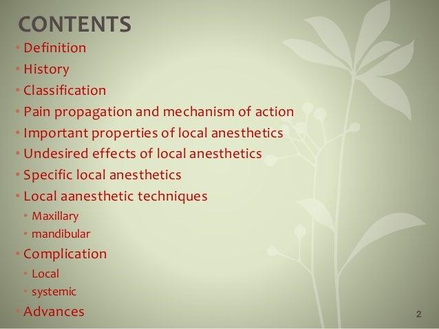 Local anesthetics Slide 2