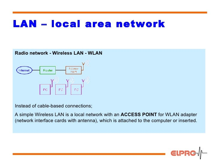 wireless local area networks history and A local-area network (lan) connects the computer hardware in a localized area such as an office or home typically, lans use wired connections to link the.